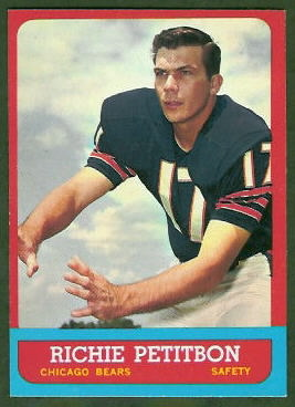 Richie Petitbon 1963 Topps football card