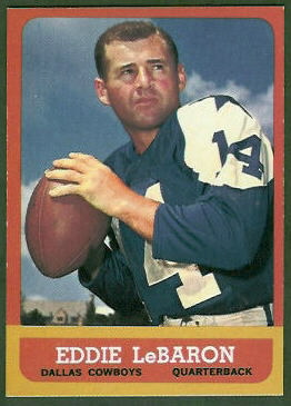 Eddie LeBaron 1963 Topps football card