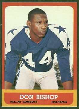 Don Bishop 1963 Topps football card