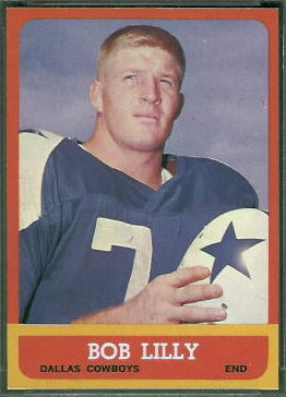 Bob Lilly 1963 Topps football card
