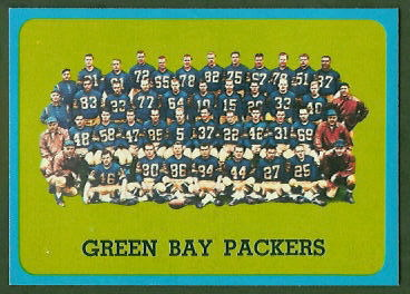 Green Bay Packers Team 1963 Topps football card