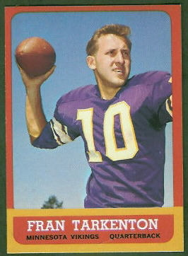 Fran Tarkenton 1963 Topps football card