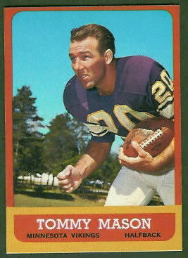 Tommy Mason 1963 Topps football card