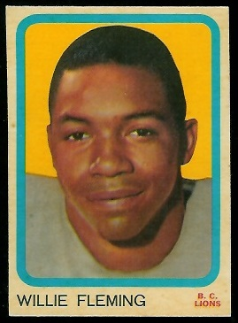 Willie Fleming 1963 Topps CFL football card
