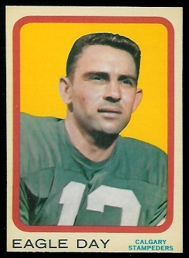 Eagle Day 1963 Topps CFL football card