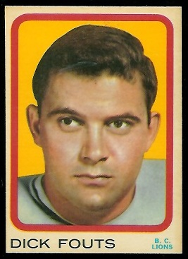 Dick Fouts 1963 Topps CFL football card