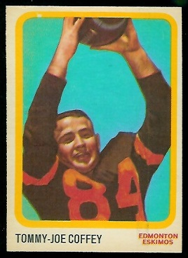 Tommy Joe Coffey 1963 Topps CFL football card