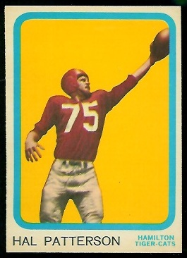 Hal Patterson 1963 Topps CFL football card