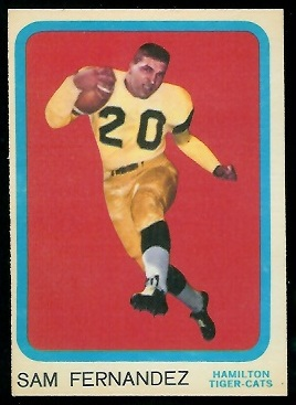 Sam Fernandez 1963 Topps CFL football card