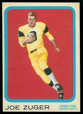 Joe Zuger 1963 Topps CFL football card