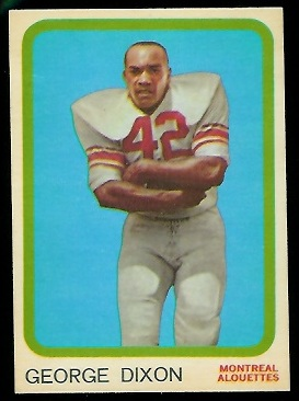 George Dixon 1963 Topps CFL football card