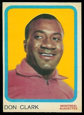 Don Clark 1963 Topps CFL football card