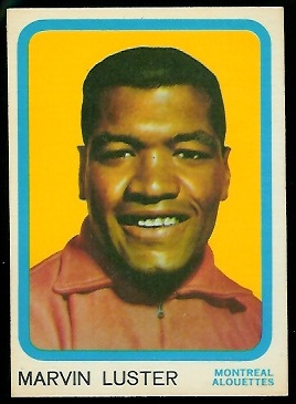 Marv Luster 1963 Topps CFL football card
