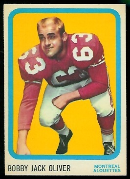Bobby Jack Oliver 1963 Topps CFL football card