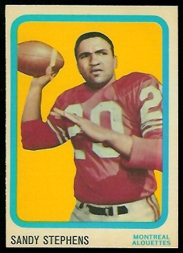Sandy Stephens 1963 Topps CFL football card