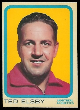 Ted Elsby 1963 Topps CFL football card