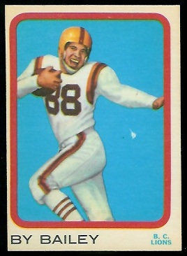 By Bailey 1963 Topps CFL football card