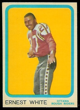 Ernie White 1963 Topps CFL football card