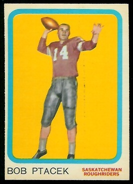 Bob Ptacek 1963 Topps CFL football card