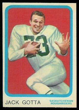 Jack Gotta 1963 Topps CFL football card