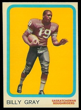 Billy Gray 1963 Topps CFL football card