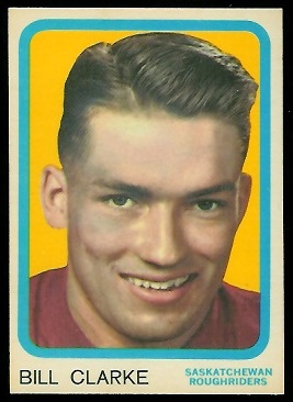 Bill Clarke 1963 Topps CFL football card