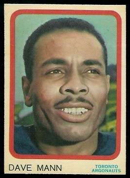 Dave Mann 1963 Topps CFL football card