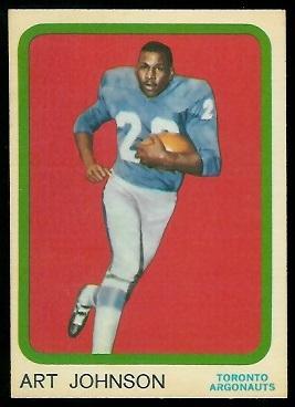 Art Johnson 1963 Topps CFL football card