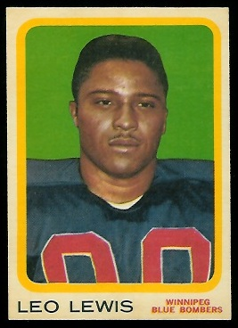 Leo Lewis 1963 Topps CFL football card