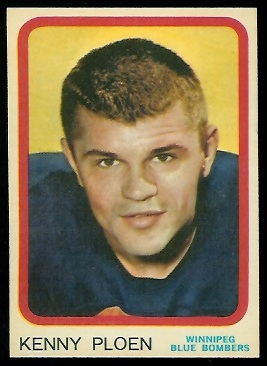 Ken Ploen 1963 Topps CFL football card