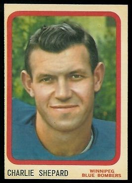 Charlie Shepard 1963 Topps CFL football card