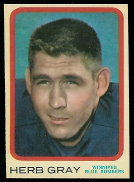 Herb Gray 1963 Topps CFL football card