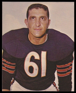 Bill George 1964 Kahns football card