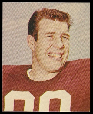 Bill Glass 1964 Kahns football card