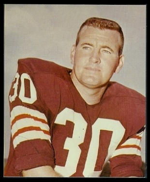 Bernie Parrish 1964 Kahns football card
