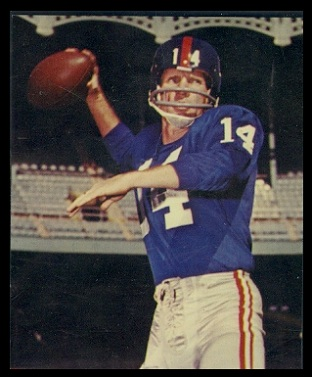 Y.A. Tittle 1964 Kahns football card