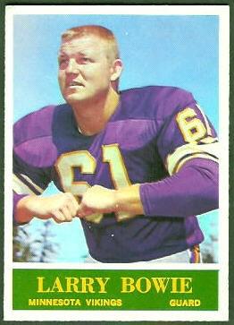 Larry Bowie 1964 Philadelphia football card