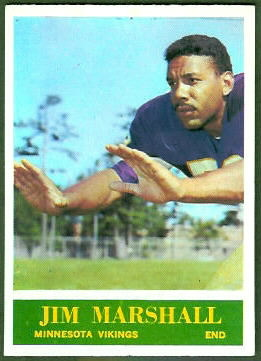 Jim Marshall 1964 Philadelphia football card