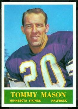 Tommy Mason 1964 Philadelphia football card