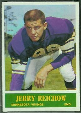 Jerry Reichow 1964 Philadelphia football card