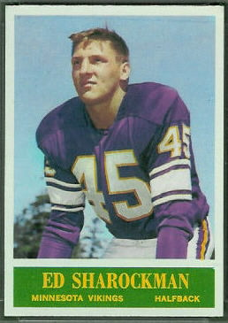 Ed Sharockman 1964 Philadelphia football card