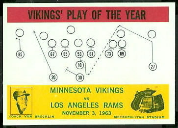 Vikings Play of the Year 1964 Philadelphia football card