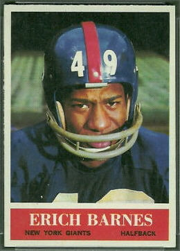 Erich Barnes 1964 Philadelphia football card