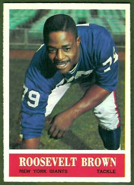 Roosevelt Brown 1964 Philadelphia football card