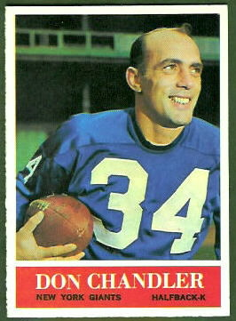 Don Chandler 1964 Philadelphia football card