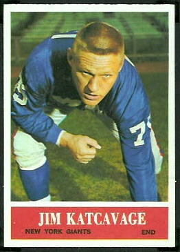 Jim Katcavage 1964 Philadelphia football card