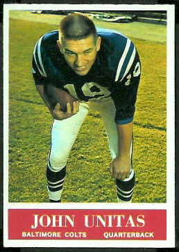 John Unitas 1964 Philadelphia football card