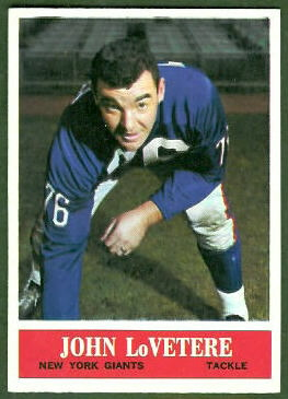 John LoVetere 1964 Philadelphia football card