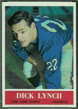 Dick Lynch 1964 Philadelphia football card