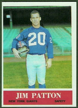 Jim Patton 1964 Philadelphia football card